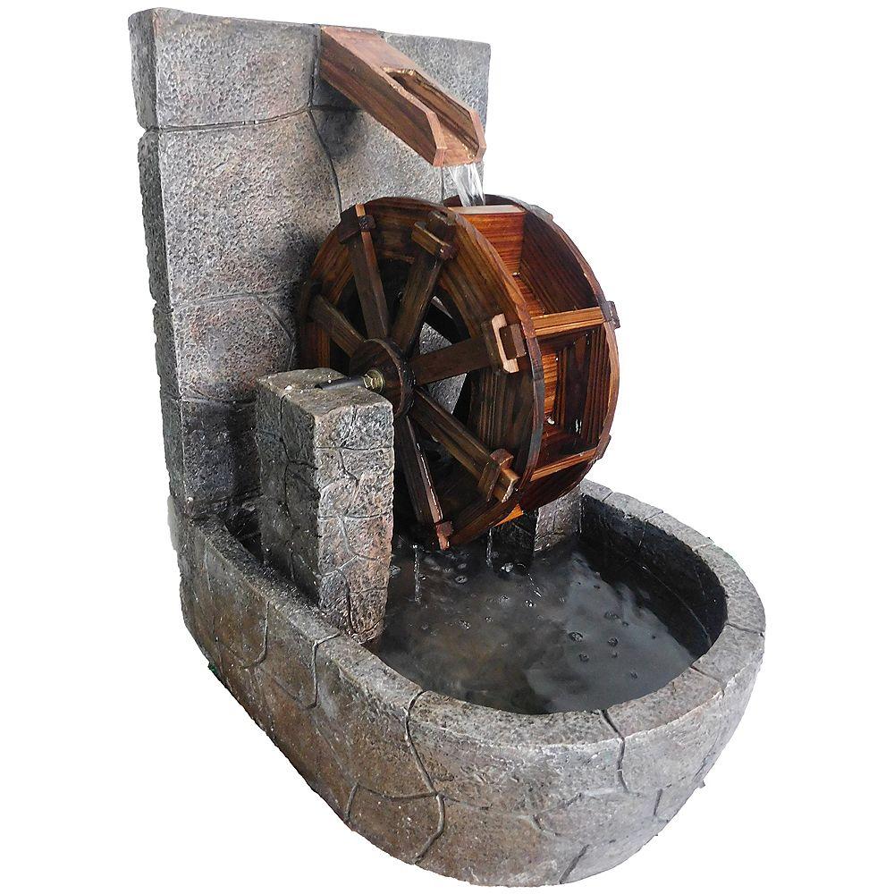 Angelo Décor Fontaine roue d'eau