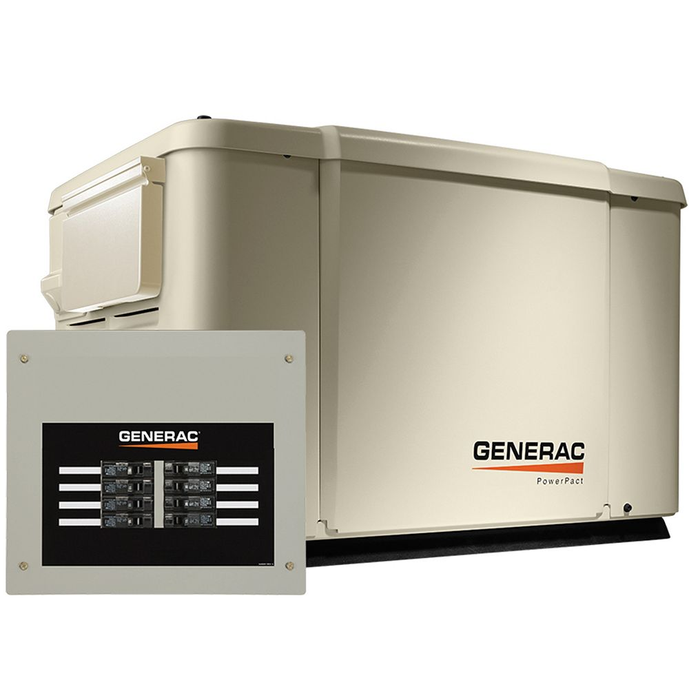 Generac 7500W Propane / 6000W Natural Gas Standby Generator with Automatic Transfer Switch