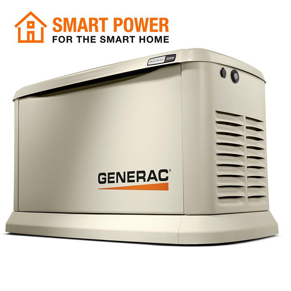 Generac 22,000W (LP)/19,500W (NG) Air Cooled Standby Generator