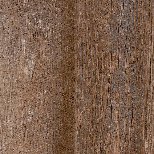 Plancher de vinyle de luxe à 2 frises de 7,5 po x 47,6 po (19,8 pi2 / caisse) de en caryer rustique verrouillable