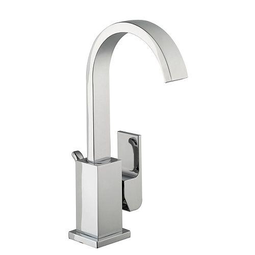 Farrington Single Hole 1-Handle Mid Arc Bathroom Faucet with Lever Handle in Chrome
