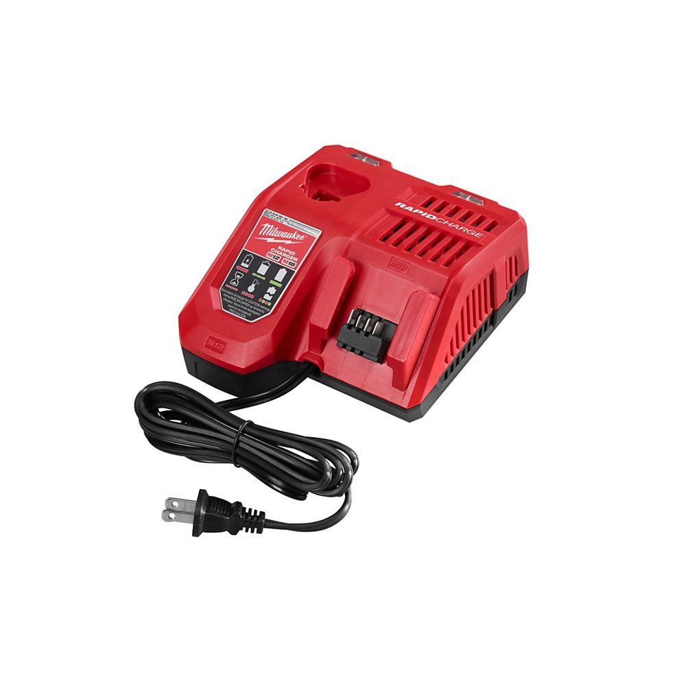 Milwaukee Tool Chargeur de batterie rapide M12 et M18 12V/18V Lithium-Ion MultiVage