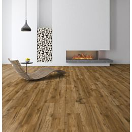 Truswell Hickory 12+2mm Thick x 6.26-inch Wide x 54.45-inch Length Laminate flooring (16.57 sf/case)