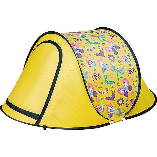 Tente pliante pour enfants pour jardin ou soirée pyjama. jaune