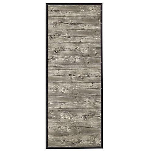 Shack Reclaimed Style Faux Wood And Steel 33 x 84 x 1 inch