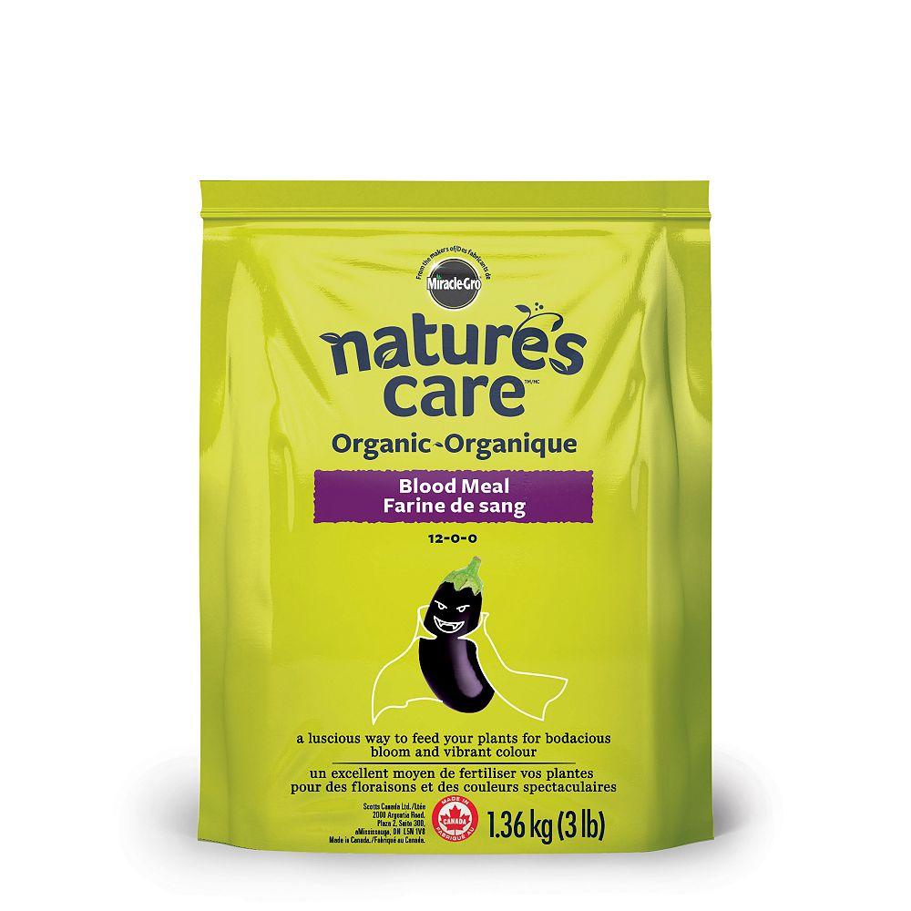 Miracle-Gro Farine de sang organique Nature's Care, 1,36 kg