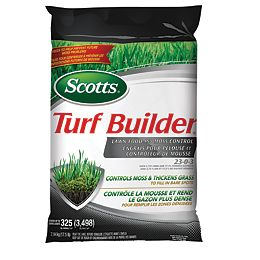 Turf Builder Lawn Food and Moss Control 23-0-3  7.94 kg  (325 m², 4,398 ft²)