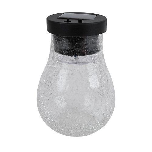 Fusion Kaleidoscope Solar Crackle Glass Jar