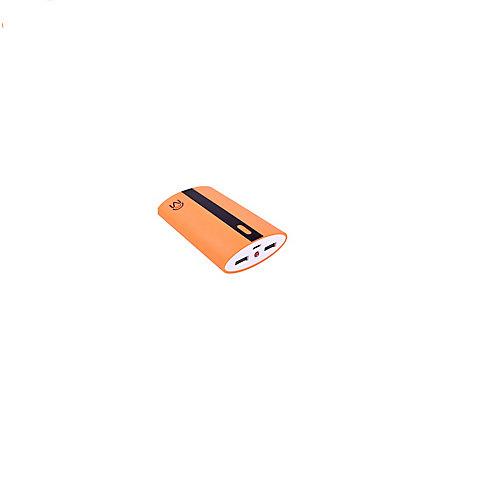 6.6 Ap Universel Double Port Usb Power Bank Néon Orange