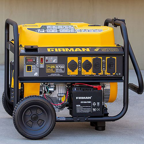 7100/5700 Watt 120/240V Remote Start Gas Portable Generator cETL Certified