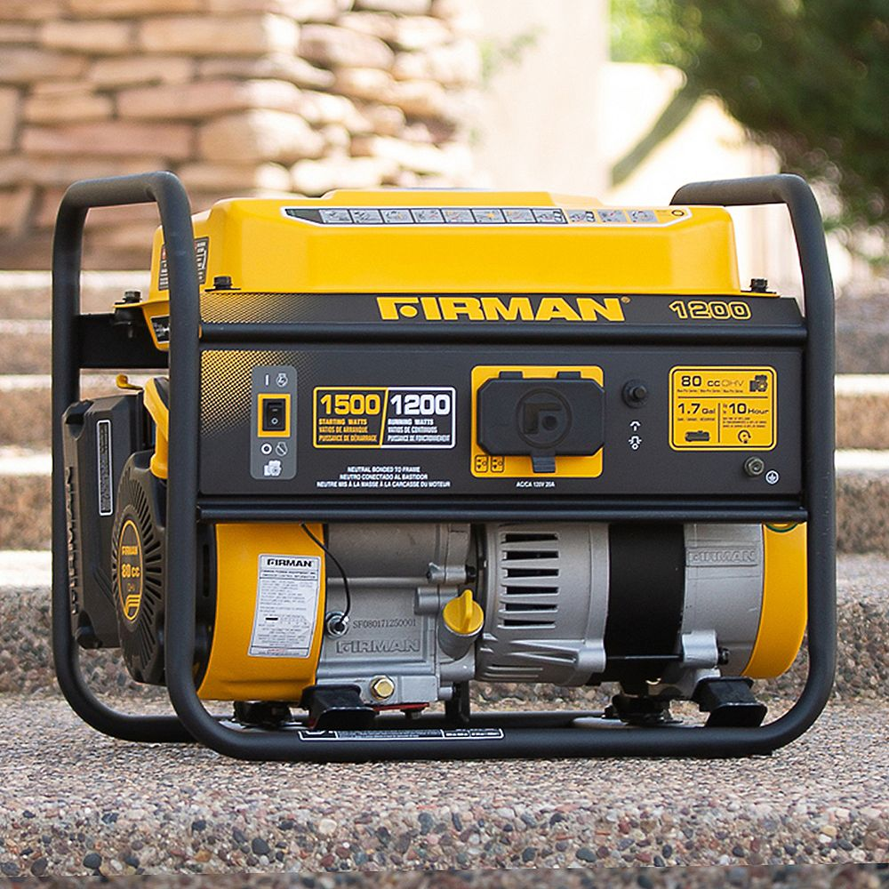 FIRMAN 1500/1200 Watt Recoil Start Gas Portable Generator CARB and cETL Certified