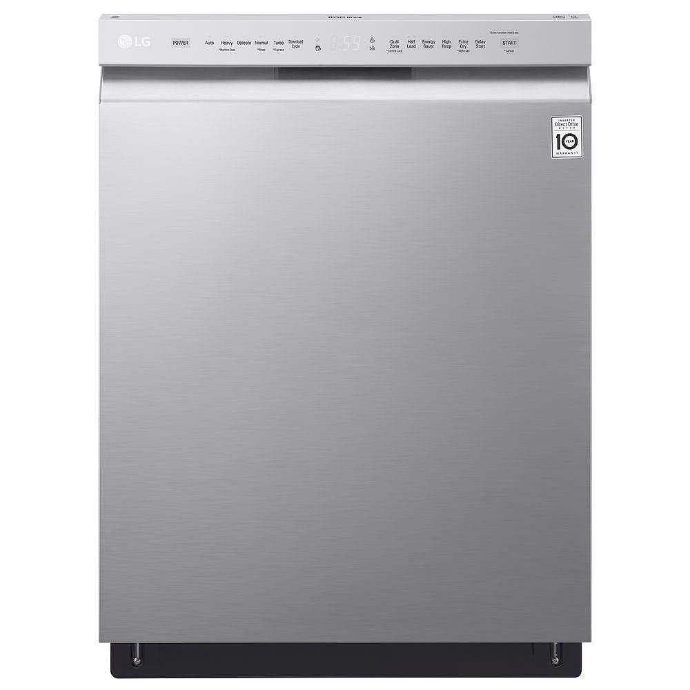 LG Electronics 24-inch Front Control Dishwasher with Stainless Steel Tub in Stainless Steel - ENERGY STAR®