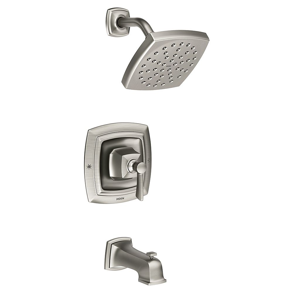 MOEN Conway Single-Handle Tub and Shower Faucet Posi-Temp in Spot Resist  Brushed Nickel