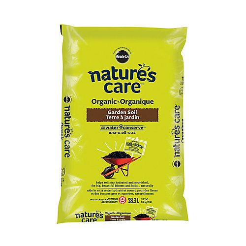 Miracle-Gro Organic Garden Soil with Water Conserve