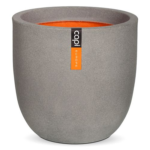 14-inch Round Planter in Grey