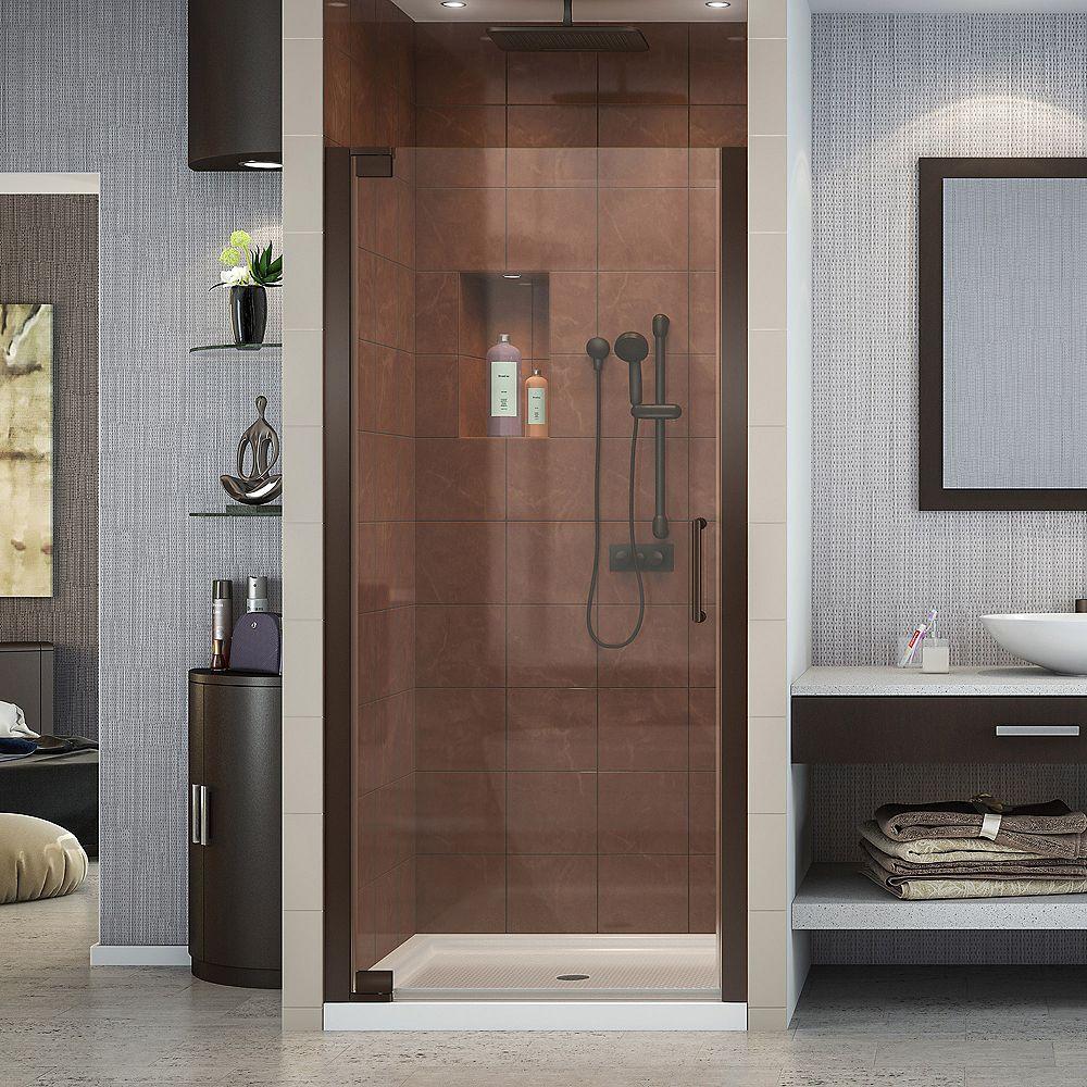 DreamLine Elegance 30-1/2-inch to 32-1/2-inch x 72-inch Semi-Frameless Pivot Shower Door in Oil Rubbed Bronze