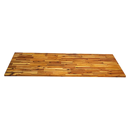 72 inch x 25.5 inch x 1 inch, Acacia Kitchen Countertop, Light Oak