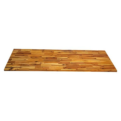 INTERBUILD 72 inch x 25.5 inch x 1 inch, Acacia Kitchen Countertop, Light Oak