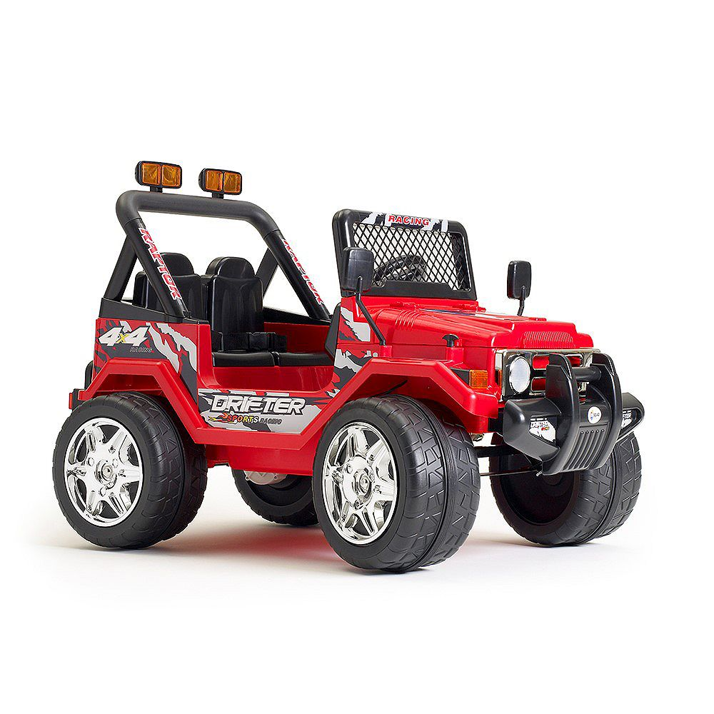 Kidsquad 12V Jeep Wrangler Ride-On Toy in Red