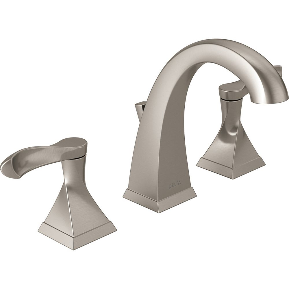 Delta Everly Widespread (8-inch) 2-Handle High Arc Bathroom Faucet in Brushed Nickel with Lever Handles
