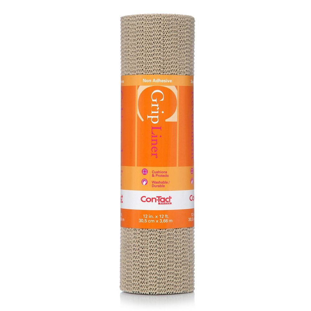 Con-Tact Grip Taupe 12 inch x 12 feet
