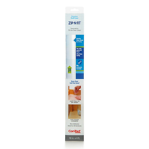 Zip-N-Fit Prem Ribbed Clear 18 inch x 4 ft