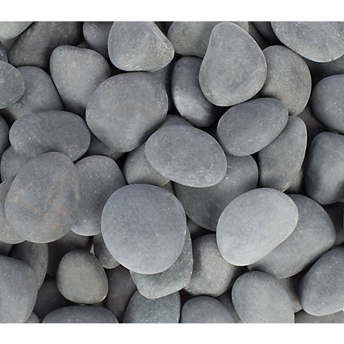 9.07kg Grey Beach Pebbles