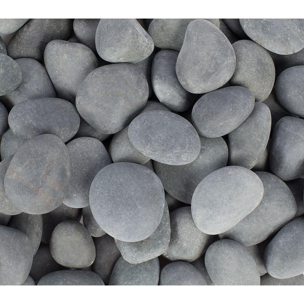 Vigoro Galets de plage, 1 à 2 po, gris mexicain, 0,25 pi3/sac