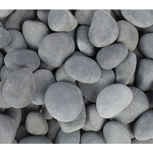 0.25 cu. ft. 1-inch to 2-inch Grey Mexican Beach Pebbles