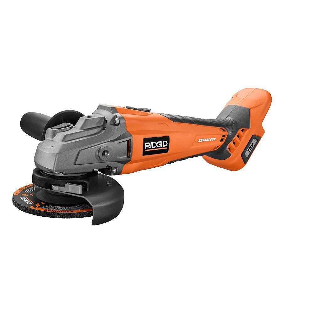 RIDGID GEN5X 18-Volt Cordless Brushless 4-1/2-inch Angle Grinder (Tool-Only)