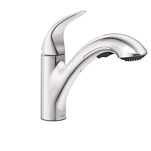 Moen Medina Single-Handle Pullout Kitchen Faucet with Power Clean and Hydrolock in Chrome