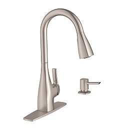 Kiran Single-Handle Pull-down Sprayer Kitchen Faucet with Power Clean(TM) in Spot Resist Stainless