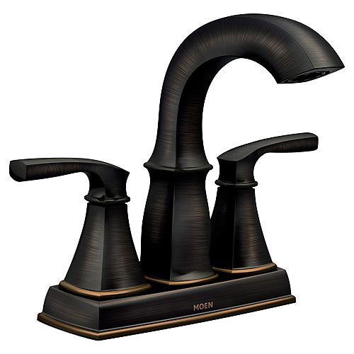 Hensley 4-inch Centerset 2-Handle Bathroom Faucet in Mediterranean Bronze