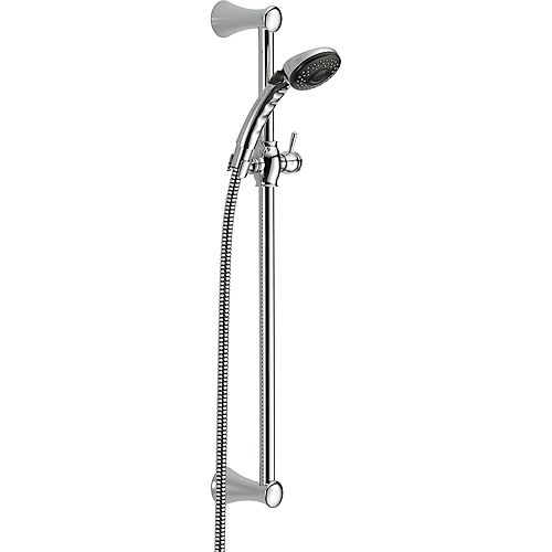 Slide Bar Hand Shower with Pause Function in Chrome