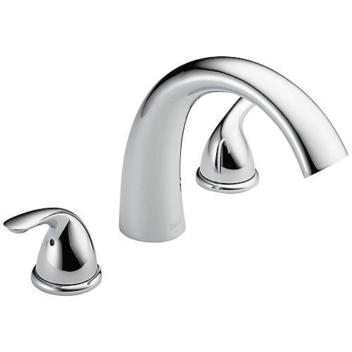 2-Handle Deck-Mount in Chrome (Valve Sold Separately)
