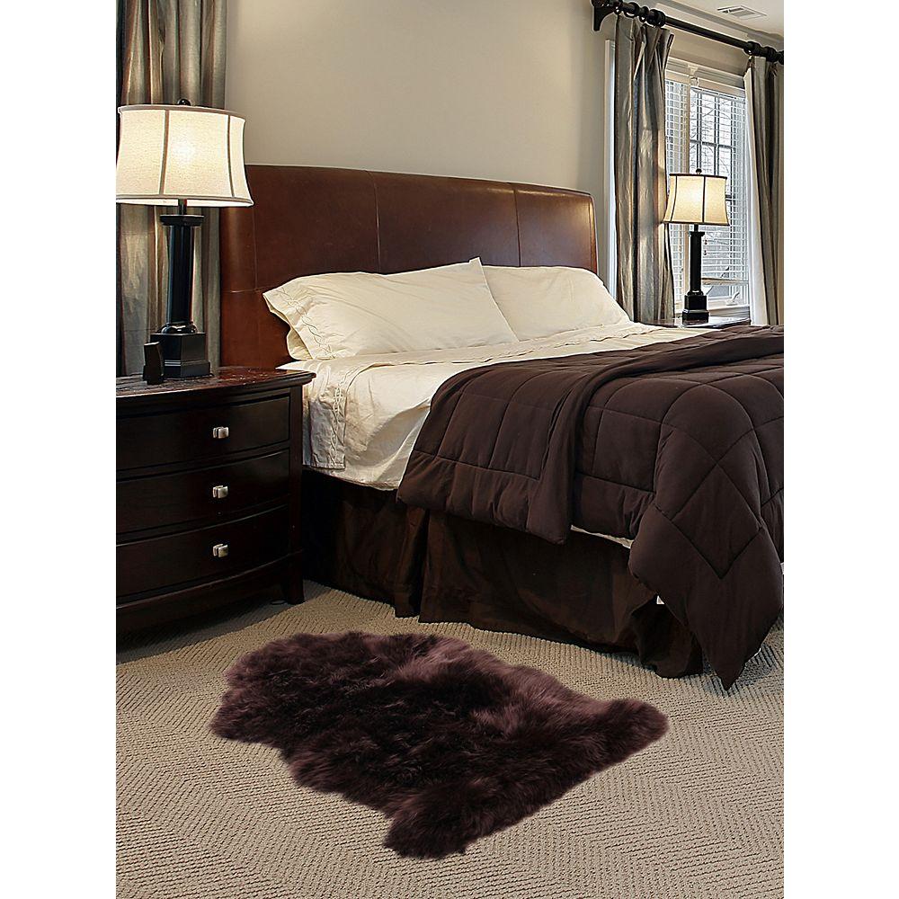 Torabi Rugs Carpette d'intérieur, 2 pi x 3 pi, style contemporain, forme irrégulière, brun Luxurious