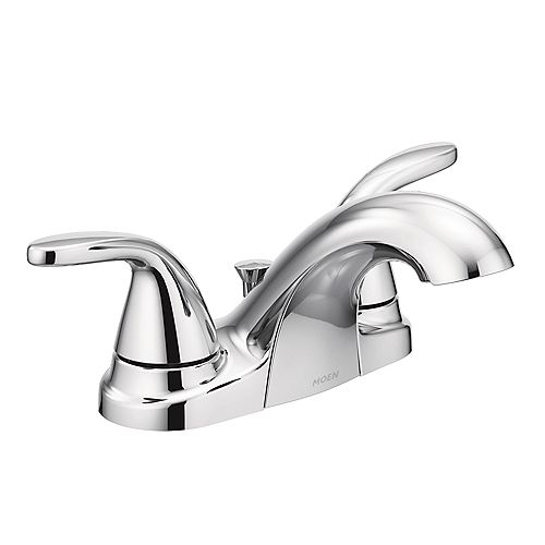 Adler 4-inch Centerset 2-Handle Low-Arc Bathroom Faucet in Chrome