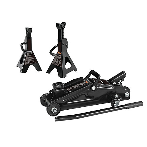 4000 lb. (2-ton) Capacity Trolley Jack with Stands