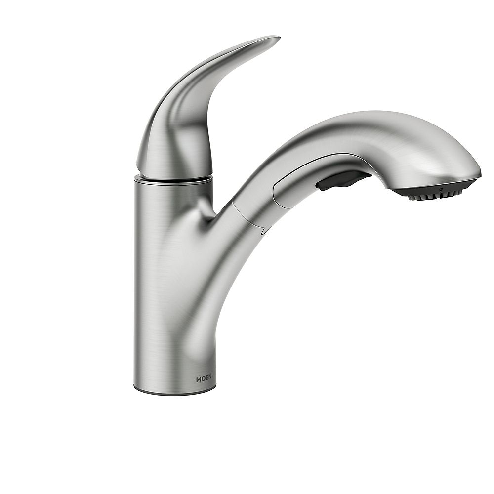 MOEN Medina Single Handle Pullout Kitchen Faucet with PowerClean in Spot Resist Stainless