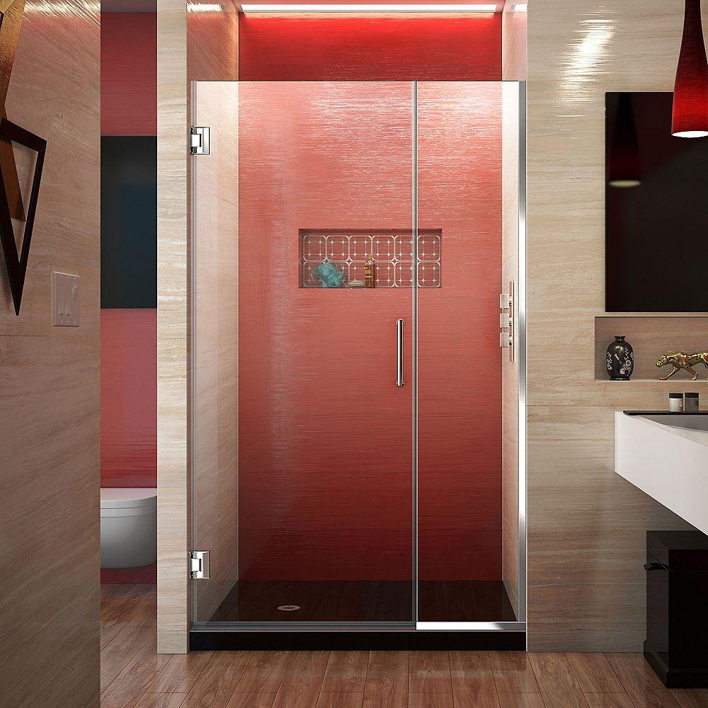 DreamLine DreamLine Unidoor Plus 114 cm x 183 cm Porte de douche Articulée Sans cadre, fini Chrome