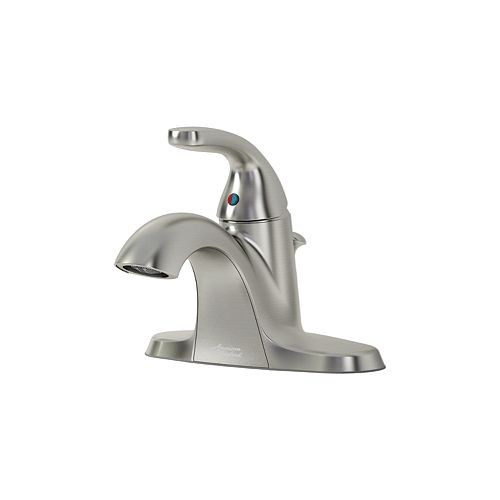 Cadet Centerset (4-inch) 1-Handle Low Arc Bathroom Faucet with Lever Handle in Brushed Nickel