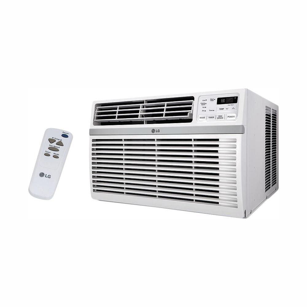 LG Electronics 10,000 BTU 115V Smart Wi-Fi Window Air Conditioner with Remote - ENERGY STAR®