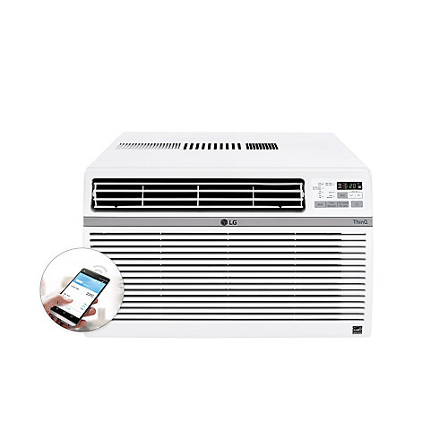 12,000 BTU 115-Volt Smart Wi-Fi Window Air Conditioner with Remote