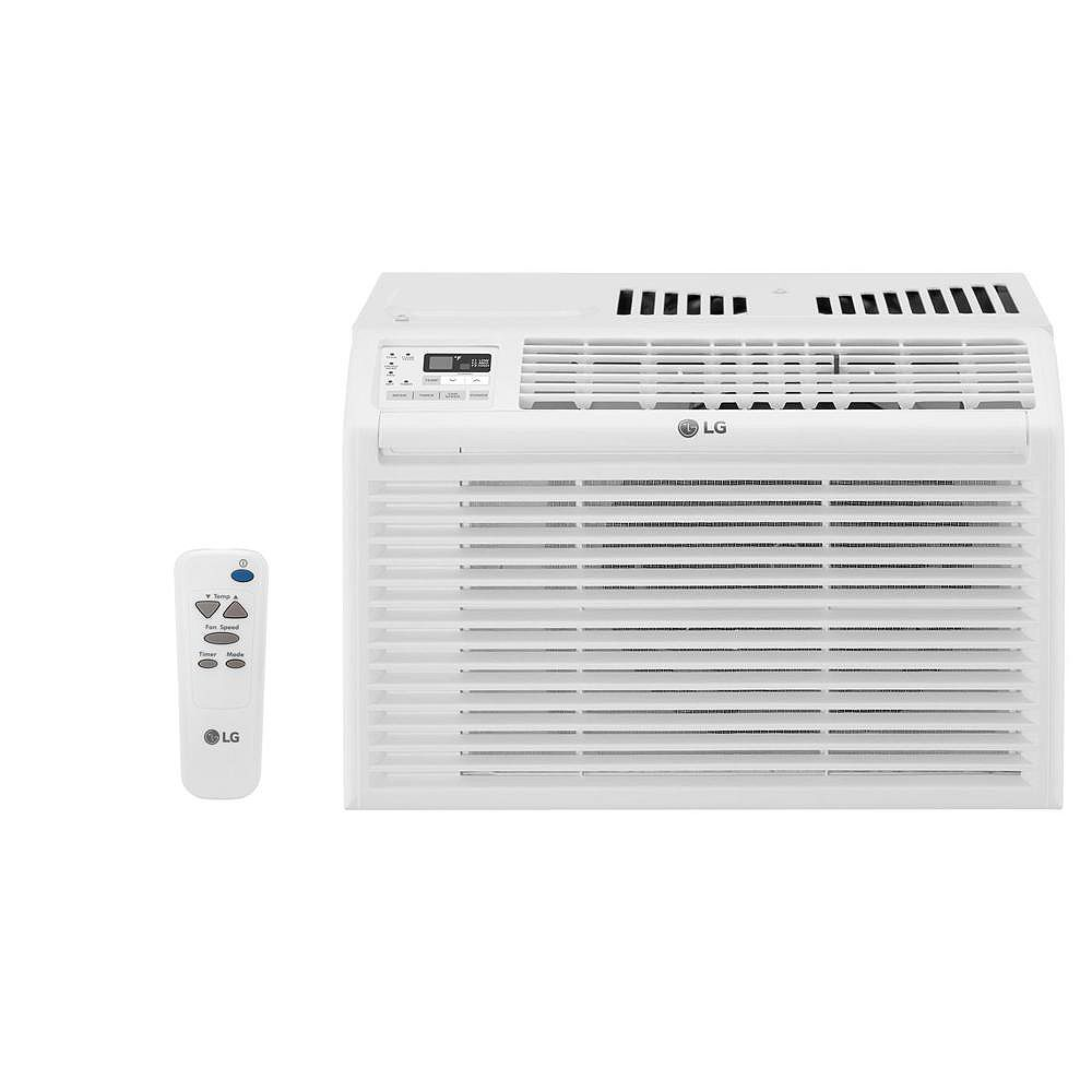 LG Electronics 6,000 BTU 115-Volt Window Air Conditioner with Remote