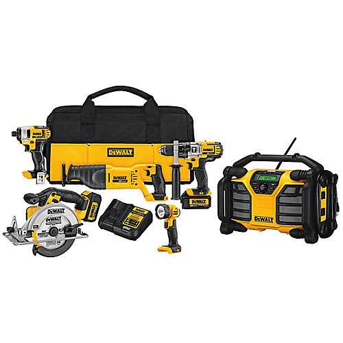 20V MAX Li-Ion Combo Kit With 12/20V MAX Worksite Charger Radio