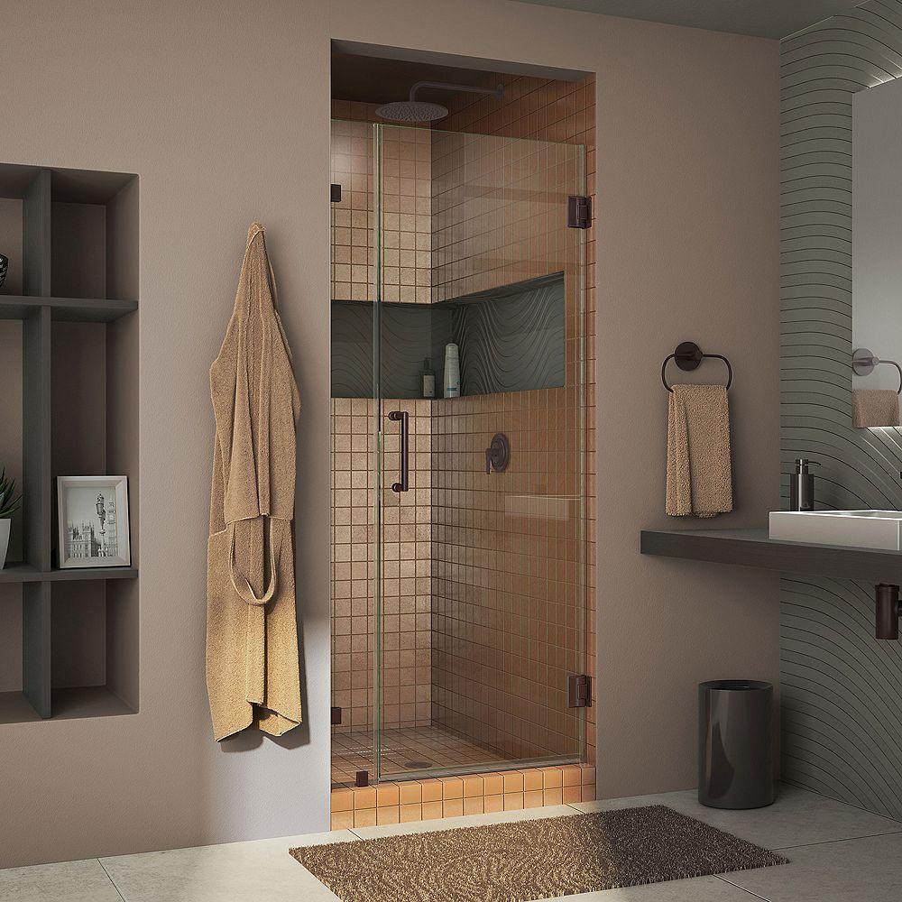 DreamLine DreamLine Unidoor Lux 79 cm x 183 cm Porte de douche Articulée Sans cadre, fini Bronze Huilé