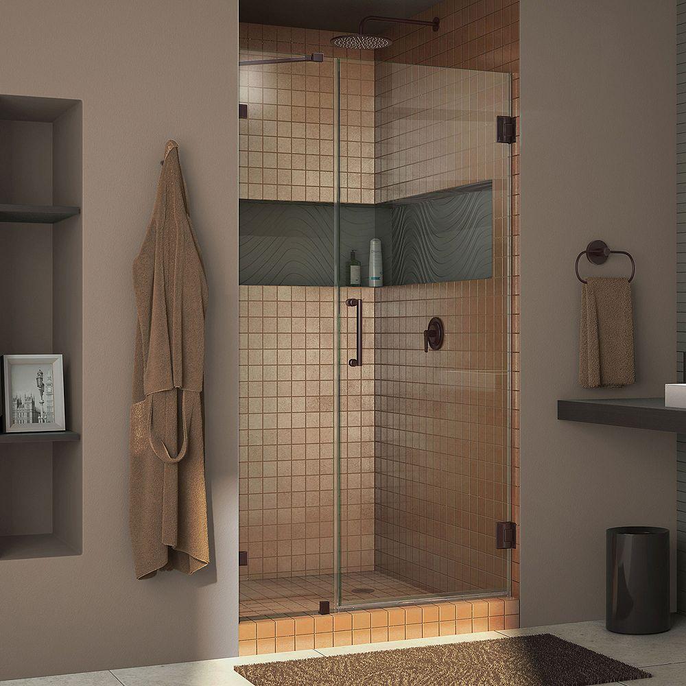 DreamLine DreamLine Unidoor Lux 109 cm x 183 cm Porte de douche Articulée Sans cadre, fini Bronze Huilé
