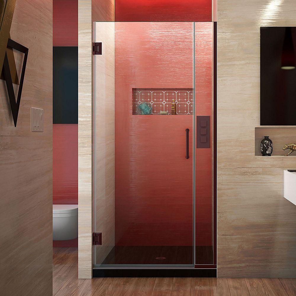 DreamLine Unidoor Plus 32-inch to 32-1/2-inch x 72-inch Hinge Shower Door in Oil Rubbed Bronze