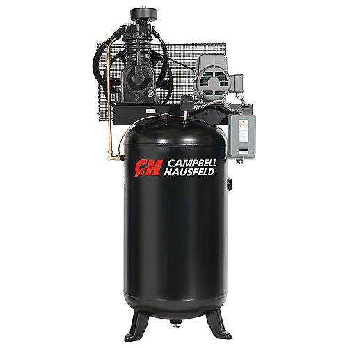 Campbell Hausfeld Air Compressor, 80 Gallon   17.2CFM 5HP 208-230V 1PH (CE7050)