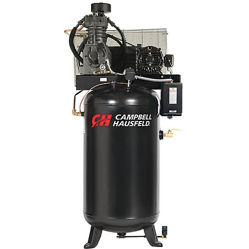 Campbell Hausfeld Compresseur d'air de 302,80 litres 17.2CFM 5HP 208-230/460V 1PH (CE7051)